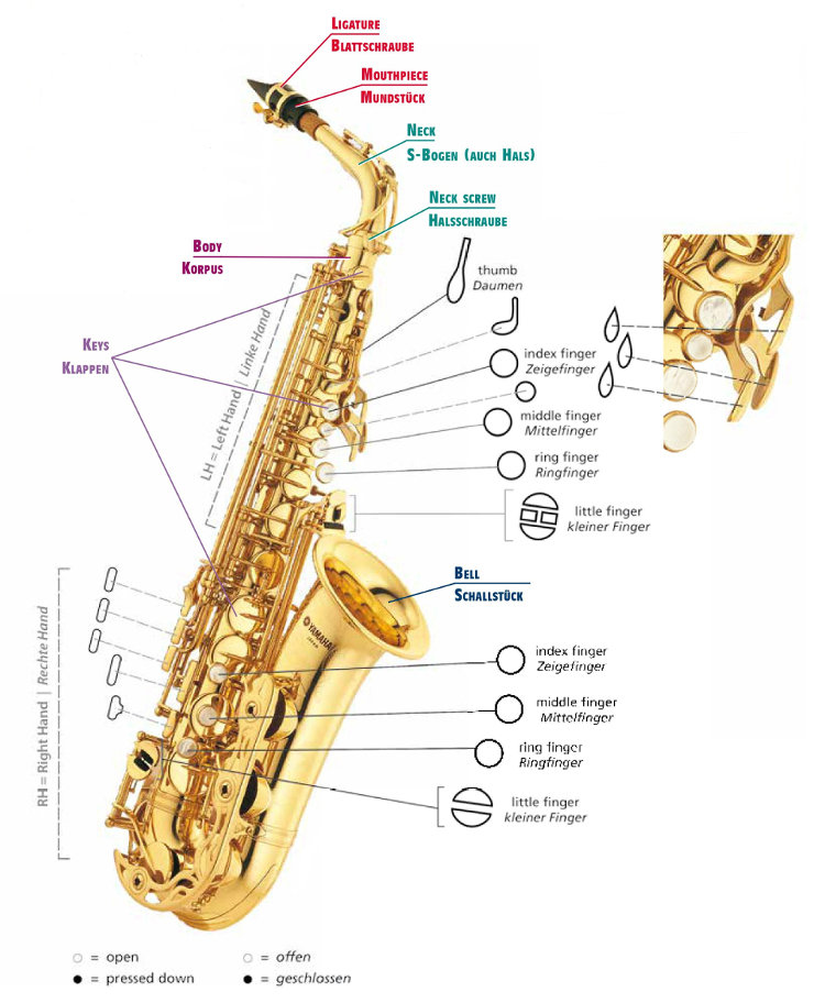 Musik & Instrumente Saxophon mit 8 Tönen