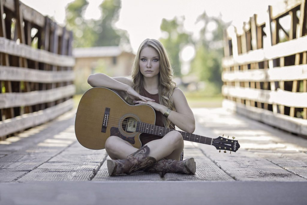 Gitarre-Musiker-Musikerin