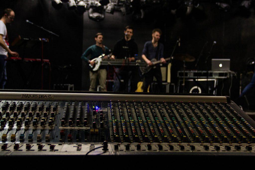 Soundcheck-Tontechniker