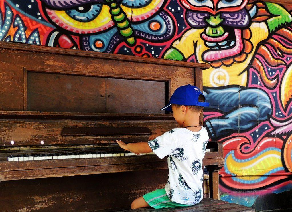 Klavier-Sitzpsition
