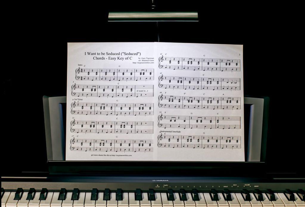 Musikunterricht-Klavier