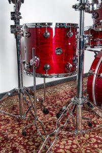 Schlagzeug-Aufbau: die Standtom