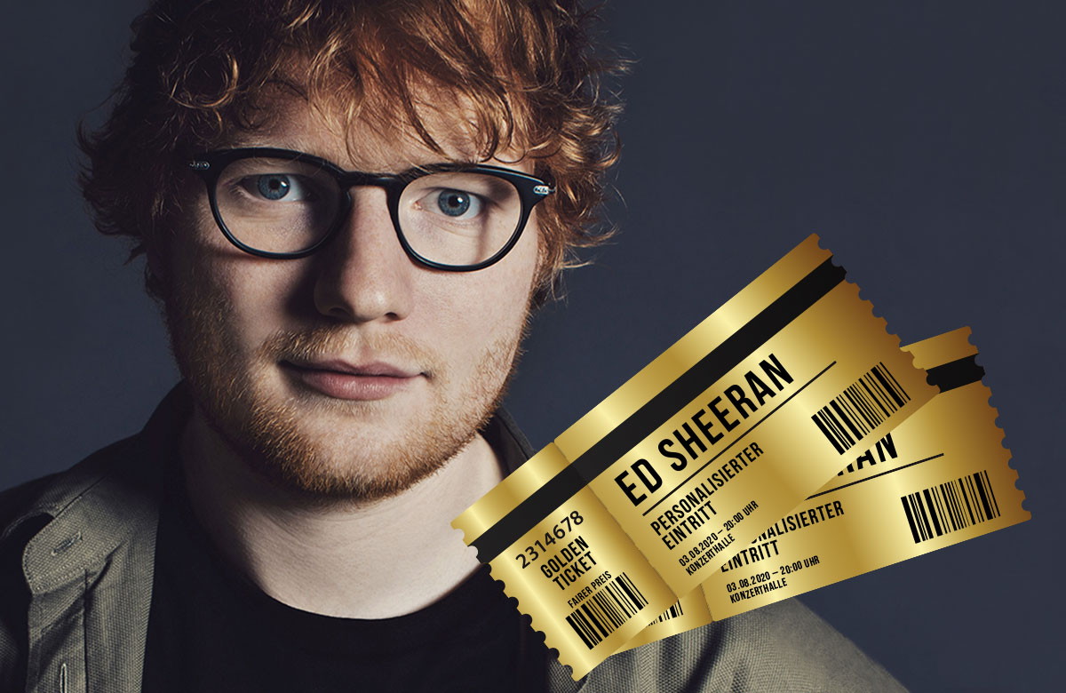 Ed Sheeran Personalisierte Tickets